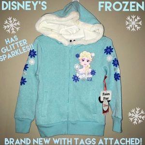 ❣️BRAND NEW W/ TAGS Disney's Frozen Zip Up Hoodie